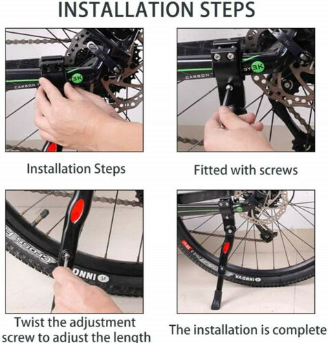"Verstellbarer Fahrradständer Seitenständer Universal 21/"" Bis 34/"" MTB Aluminium"
