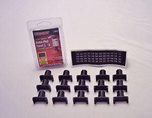 """ERNST 8440 1//4/"""" Drive DURA PRO TWIST LOCK  Socket Clips 15 piece"""