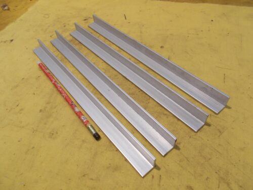 "4 pc lot of ALUMINUM ANGLE machine shop stock 1//8/"" x 3//4/"" x 3//4/"" x 12/"" OAL"