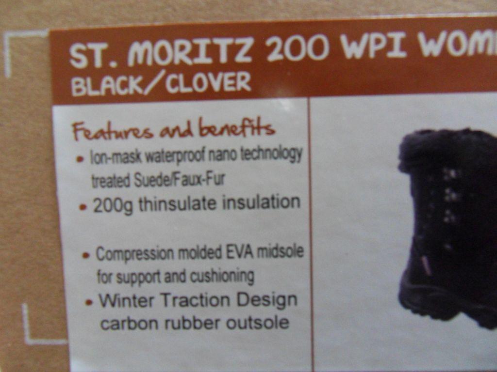 Trekking Stiefel St.Moritz St.Moritz Stiefel HI-TEC Stiefel Gr.38 schwarz 00eec1