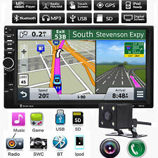 "7"" 2 DIN Car MP5 MP3 Player Radio Stereo Touch Bluetooth GPS Navi FM TV +Camera"