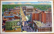 1940s Linen Postcard: 'Main Street / Downtown - Lexington, Kentucky KY'