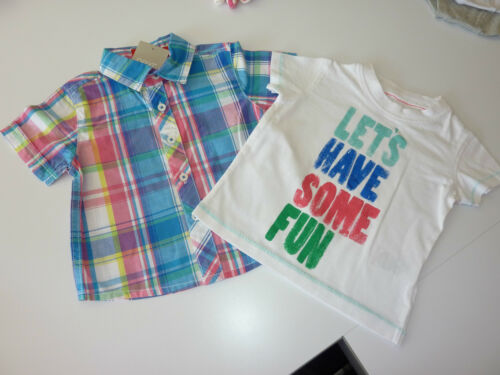 NEXT Gorgeous Little Checked Shirt and T-Shirt 3-6 Months NWT
