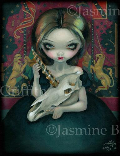 Unicorn Ghost Jasmine Becket-Griffith CANVAS PRINT gothic art skull tapestry JBG