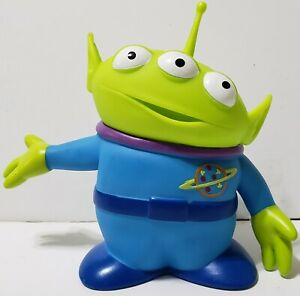 """Thinkway Toys Disney Pixar Toy Story Green Alien 6"""" Figure Open Mouth Arm Up"""