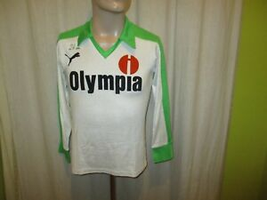 Werder-Bremen-Original-Puma-Langarm-Auswaerts-Trikot-1981-82-034-Olympia-034-Gr-S