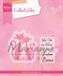 Marianne-Design-Collectables-Dies-amp-Stamp-Set-A-Pair-of-French-Cats-COL1344