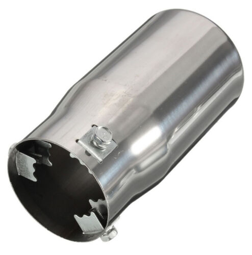 Universal Chrome Stainless Steel Round Exhaust Tail Pipe Tip Muffler Car Vehicle