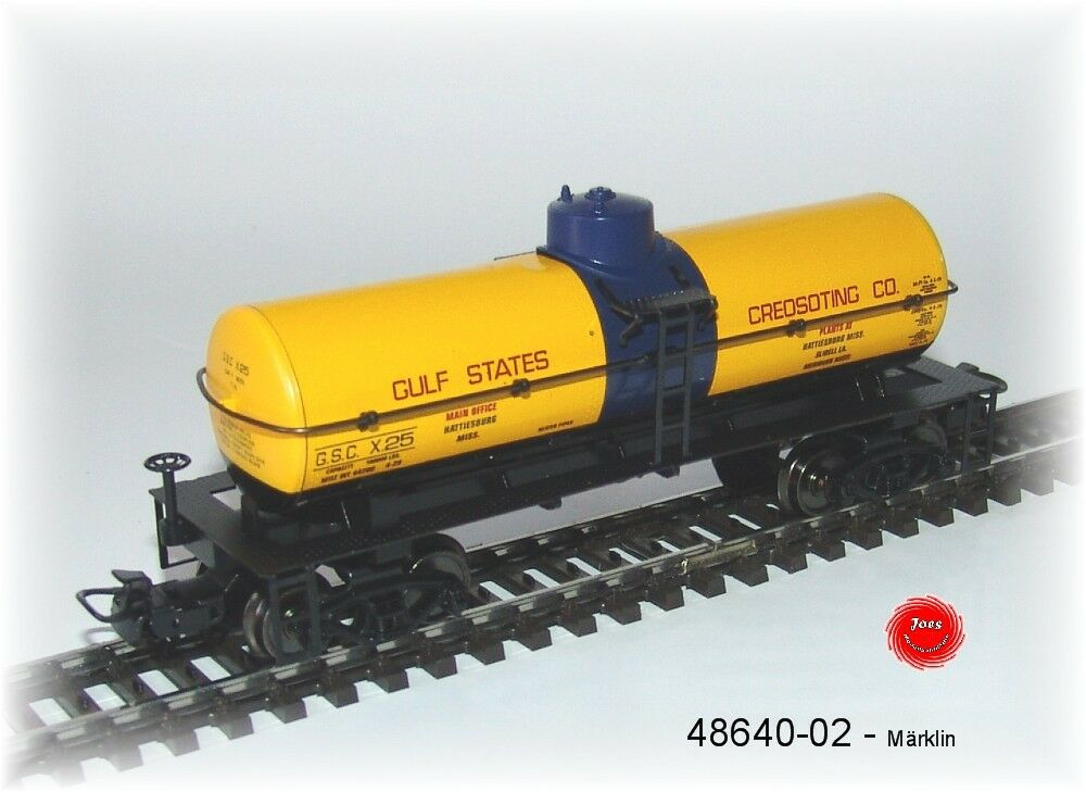 Märklin 48640-02 One US Tin Plate Tank Car   Gulf States   4-achsig