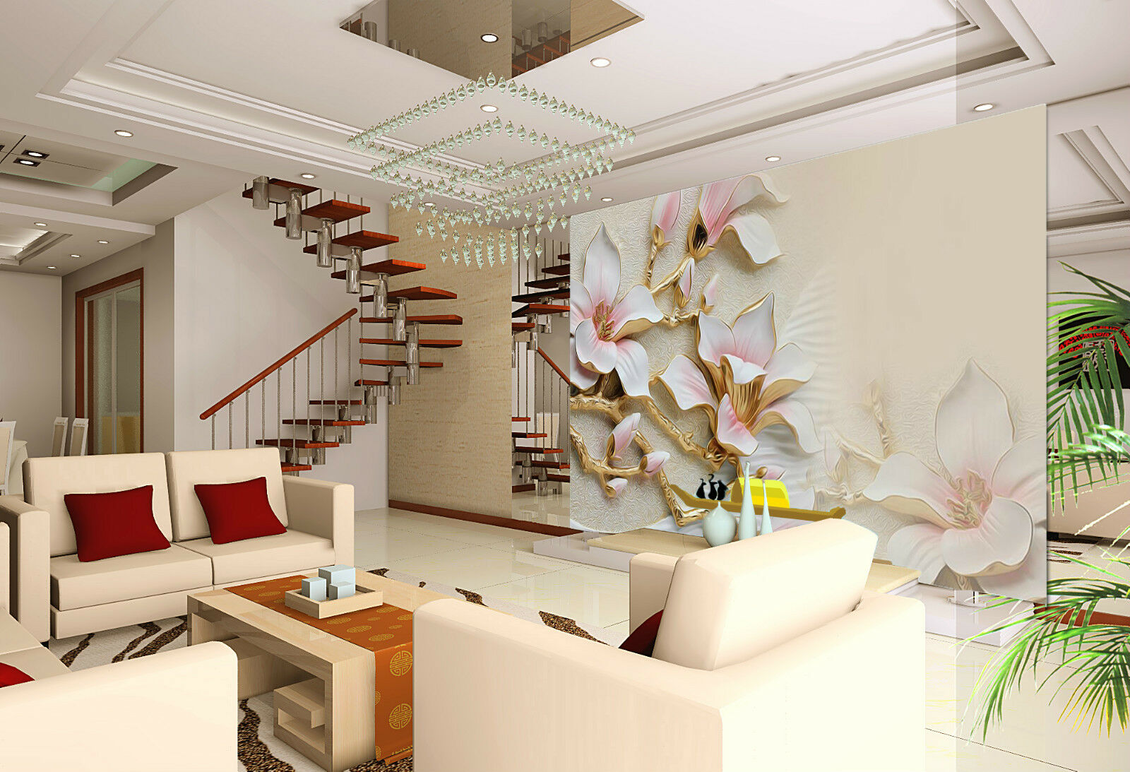 3D Simple Flowers Branches 3217 Wall Paper Wall Print Decal Wall AJ WALLPAPER CA