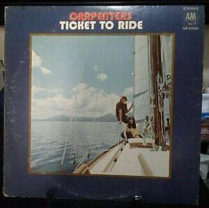 CARPENTERS Ticket to Ride Album Released 1970 Vinyl Collection USA Press