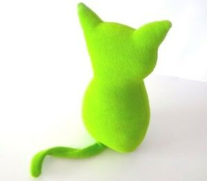 Cat-GREEN-Key-Lime-made-in-FRANCE-NEW-PLUSH-PELUCHE-H-Quality-Fabric