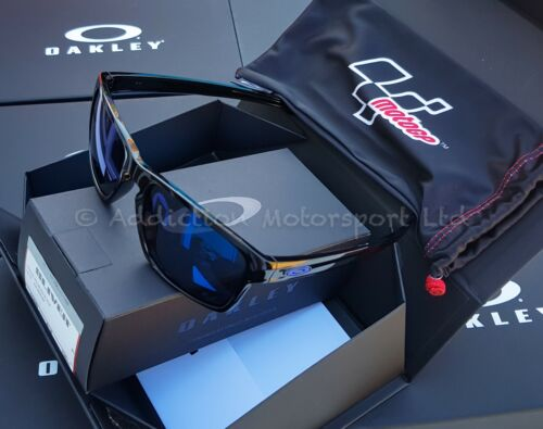 c235095c4b Details about OAKLEY Silver Moto GP MotoGP Signature Sunglasses Polished  Black