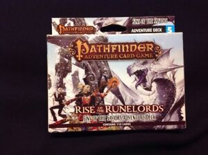 Rise of The Runelords Cards Sins of The Saviors Adventure Deck Pathfinder