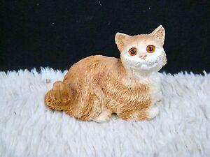 Ceramic-Resin-Orange-and-White-Tabbi-Cat-Figurine-Collectible-Home-Decor