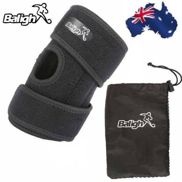 Kids Adjustable Black Knee Support Brace Protector Strap Running Basketball Gym