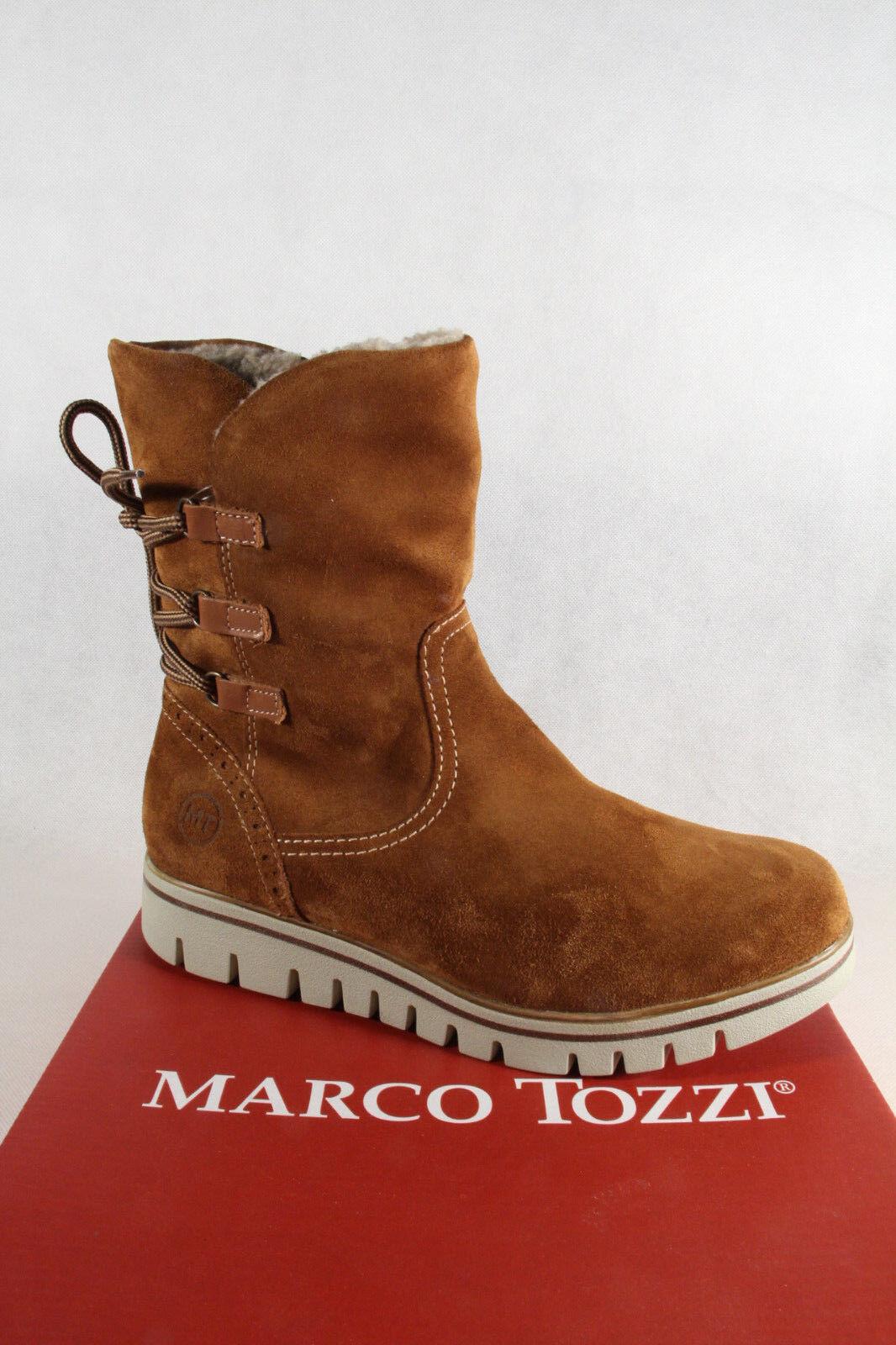 Marco Tozzi Stiefel, Stiefelette, braun, leicht gefüttert, 26804 Echtleder NEU