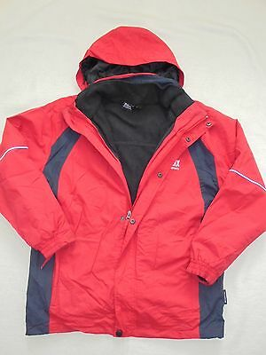 Doublesix  DSix Funktionsjacke Outdoor Freizeit Ski Jacke Fleece 3 in 1 Gr 164