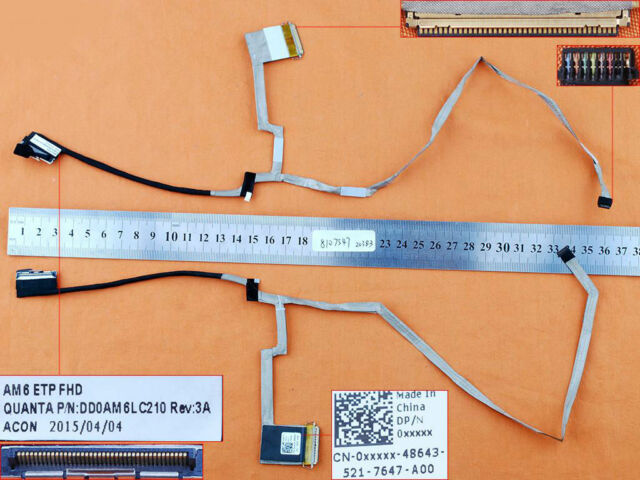 Dell Inspiron 15 7547 7548 & 15-7547 FHD LCD LED Video Screen Cable DD0AM6LC210