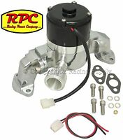 Sbc Chevy Small Block Electric Water Pump Kit, Billet, High Volume; 5926p