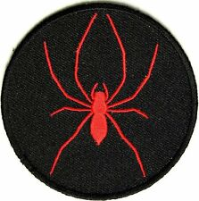 Red & Black Spider - MOTORCYCLE VEST Biker Embroidered Iron On/Sew On Patch