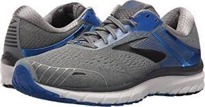 c648bdff699 BROOKS Adrenaline GTS 18 running shoes MENS Grey Blue Black WIDTH 2E ...