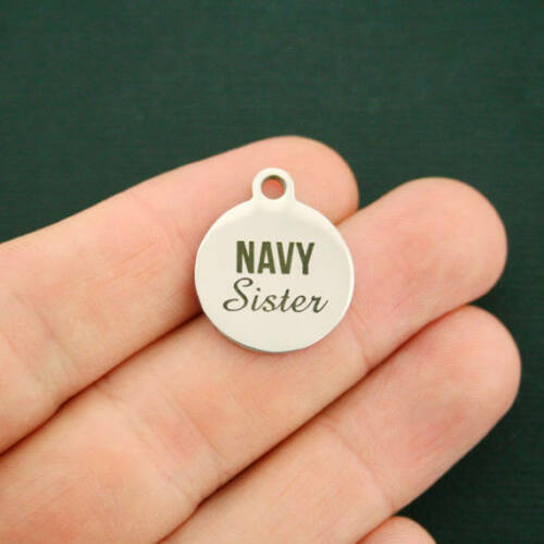 Navy Sister Stainless Steel Charms Quantity Options Exclusive Line BFS2446