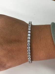 Image Is Loading 10 Carat Vs1 Vs2 D Diamond Tennis Bracelet