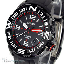 SEIKO SUPERIOR MONSTER AUTOMATIC BLACK FACE RED MARKERS SRP447K1 SRP447