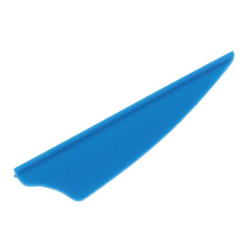 "30pcs//bag 2/"" Rubber Vanes Archery Arrow Feather Fletching Shield DIY Tool UK SS"