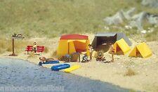 BUSCH 6026 H0, Campingzelte, Ein kleiner Campingplatz, Bausatz, Neu