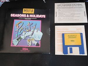 Electronic-Arts-Deluxe-Library-Seasons-amp-Holidays-For-Apple-IIGS