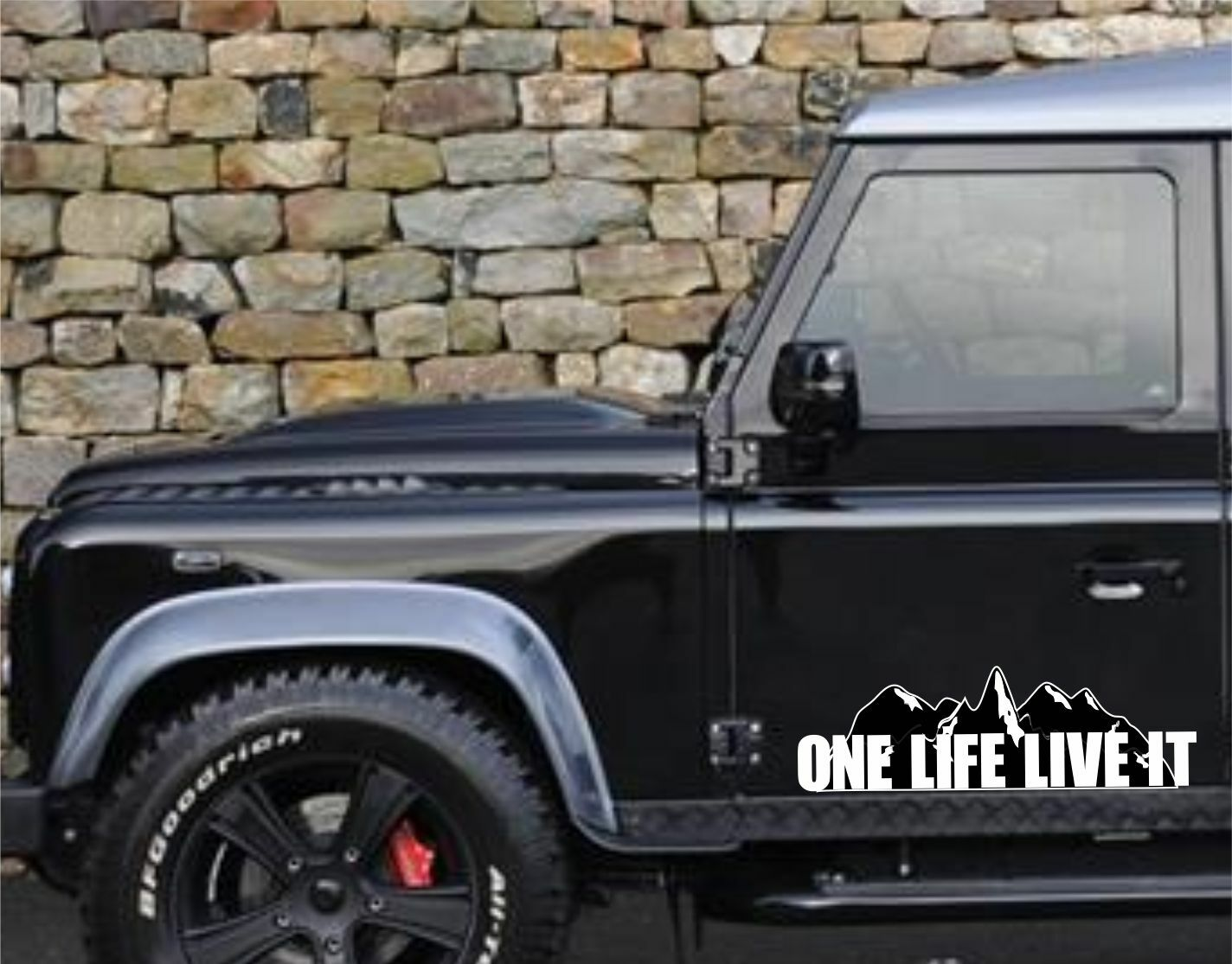 One Life Live it Jeep 4x4 Stickers 110 90 Off Roader Off Roading ATV