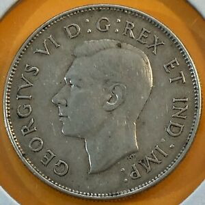1947-ML-Canada-Maple-Leaf-50-Cents-Half-Dollar-Silver-Coin-Canadian-Antique