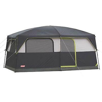 Coleman Prairie Breeze 9 Person WeatherTec Camping Tent w/Fan & Light | 14 x 10'