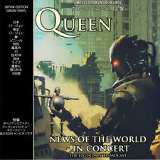 QUEEN NEWS OF THE WORLD IN CONCERT VINILE LP (1000 COPIES) COLORED GREEN VINYL