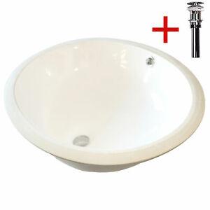 Egg Bowl Sink Undermount Bathroom Porcelain Make Up W