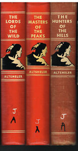 Set-of-3-Joseph-Altsheler-Reprints-From-1940-039-s-Vintage-Books