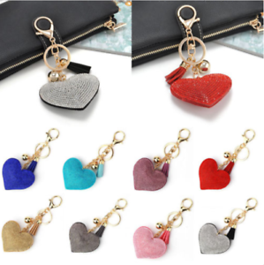 Crystal-Heart-Keychain-Rhinestone-Love-Key-Chain-Hand-Bag-Key-Ring-Valentines