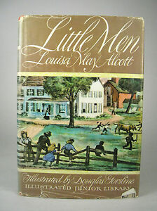 Illustrated-Junior-Library-Little-Men-by-Louisa-May-Alcott-1947-Hardcover-DJ