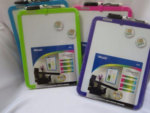Magnetic Dry Erase Board marker + two magnets Purple Green Pink or Blue dorm