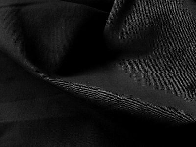 Soft Cotton Jersey Knitted Fabric - Black - 70cm x 170cm - New by Dcf