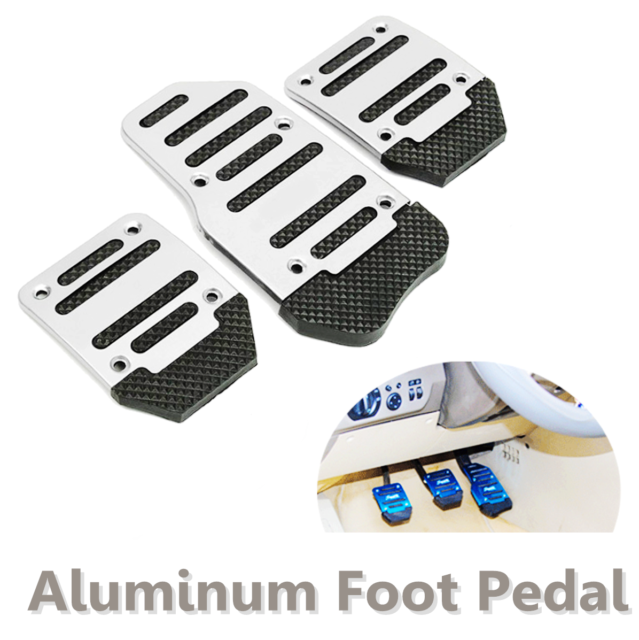 3x Aluminum Non-Slip Car Foot Pedals Pad Cover For Brake Clutch Accelerator nice