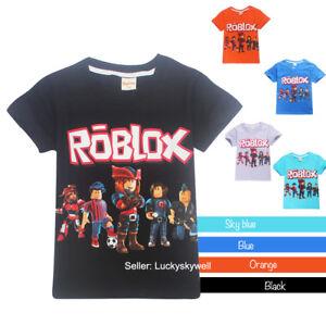 Roblox Boys Girls Kids Cartoon Short Sleeve T Shirt Tops Summer