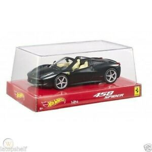 FERRARI-458-SPIDER-MATT-BLACK-1-24-HOT-WHEELS-MATTEL