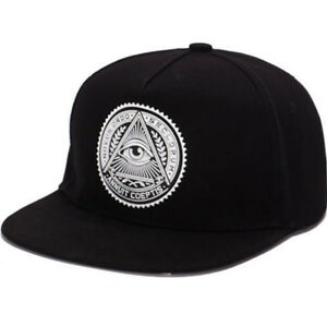 dcd2bdb8 Details about Mens Boy Premier Illuminati Eye Baseball Cap Snapback Women  Hiphop Hats