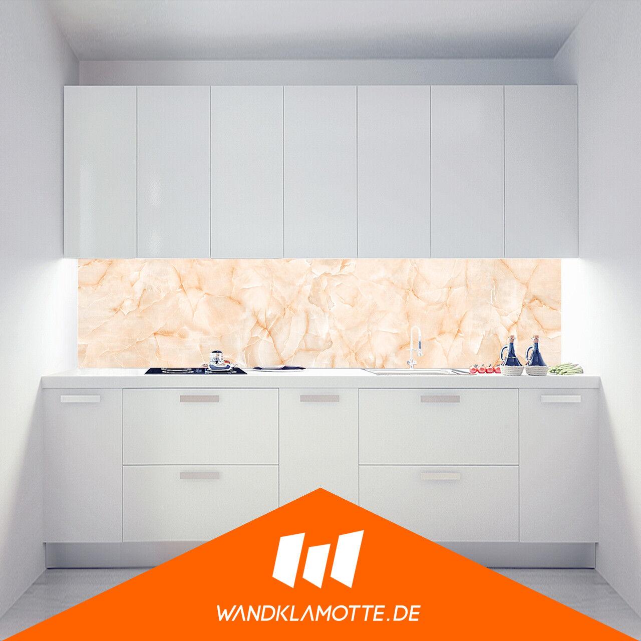 Cuisine Mur Arrière Acrylique Verre Cuisinière anti-projections Peach marbre