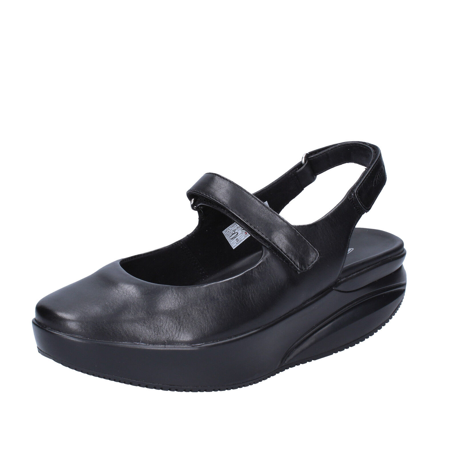 mujer zapatos MBT KOFFI 3,5 (EU 36) flats negro leather dynamic BX889-36
