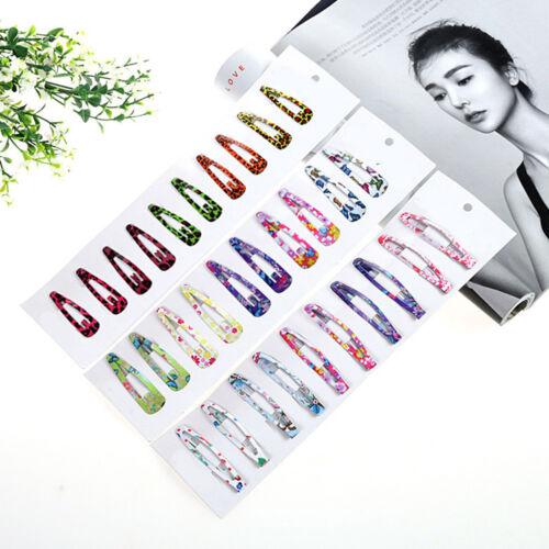 5//20//50Pcs Various Color Hair Snap Clip Girls Kids Bobby Pins Hairclip Mix New