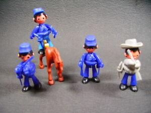 Kinder Figurines Bonhommes Cheval Montable Année 70/80 Vintage Egg Toy Ü-ei